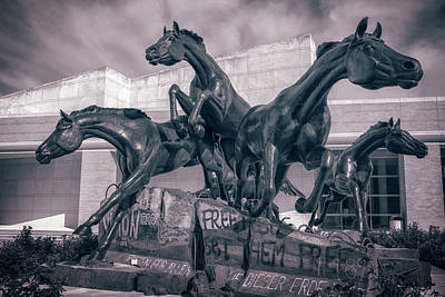 Politicians Royalty-Free and Rights-Managed Images - A Monument To Freedom II by Joan Carroll