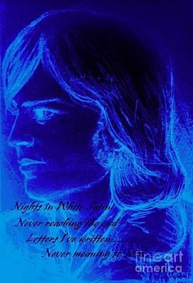 A Moody Blue Art Print