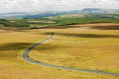Valley Green Photograph - A Moorland Road by Ashley Cooper
