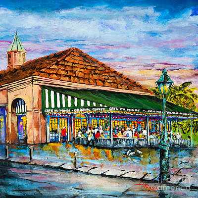 Cafes Painting - A Morning At Cafe Du Monde by Dianne Parks