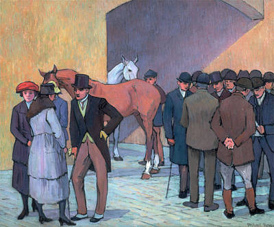 Rights Painting - A Morning At Tattersalls Signed, Lower Right Robert Bevan by Litz Collection