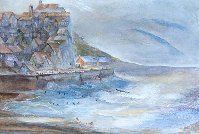 A Morning At The Sea Side Art Print by Theo Brush