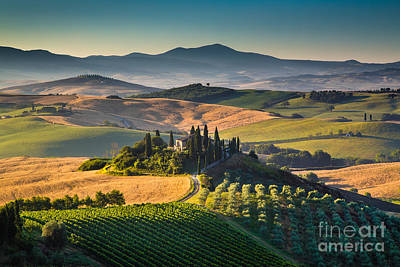 A Morning In Tuscany Art Print by JR Photography