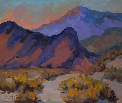 Mountain Valley Painting - A Morning Walk by Diane McClary