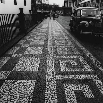 Street Scenes Photograph - A Mosaic Footpath by Leonard Nones