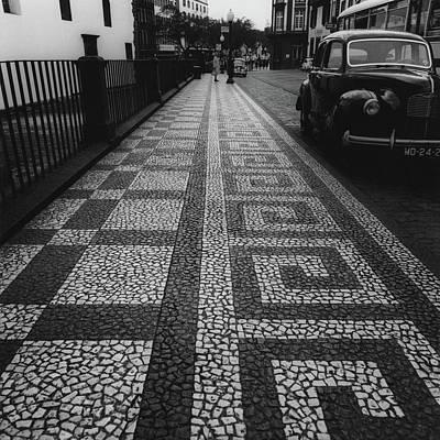 Mosaic Photograph - A Mosaic Footpath by Leonard Nones