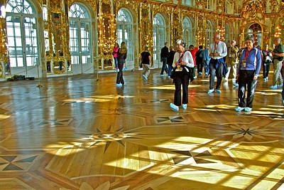 Catherine Palace In Russia Photograph - A Most Elegant Ballroom In Catherine's Palace In Pushkin-russia by Ruth Hager