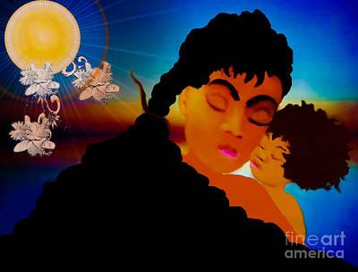 Painting - A Mother Tender Love by Belinda Threeths