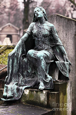 Cemeteries Of Paris Photograph - A Mothers Devotion by John Rizzuto