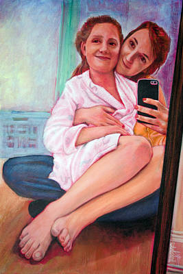Painting - A Mother's Love by Ron Richard Baviello