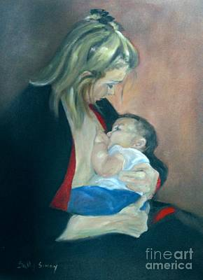 Painting - A Mother's Love by Sally Simon