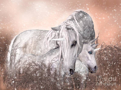 Snuggle Digital Art - A Mother's Magic by Elle Arden Walby