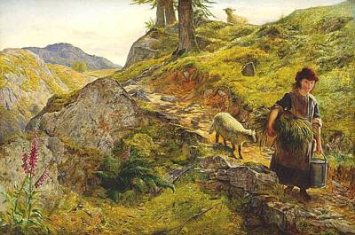 A Mountain Path At Capel Curig Wales Art Print by MotionAge Designs