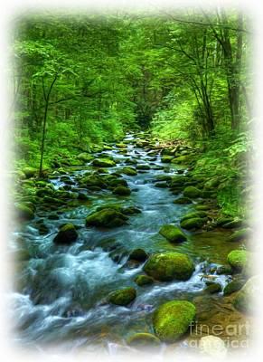 A Mountain Stream Art Print