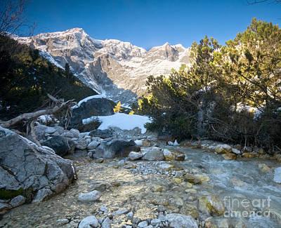 Frosty Photograph - A Mountain Stream Scenery by Michal Bednarek