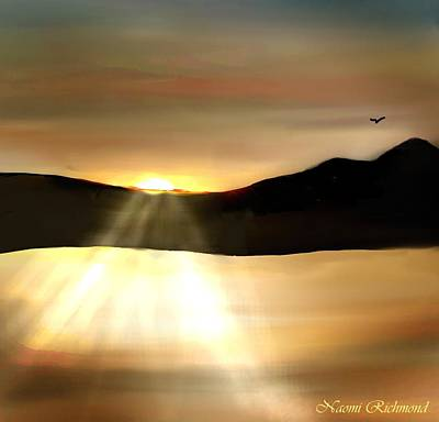 Clearlake Digital Art - A Mt Konocti Sunset by Naomi Richmond