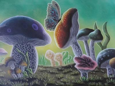 A Mushroom Kingdom Art Print