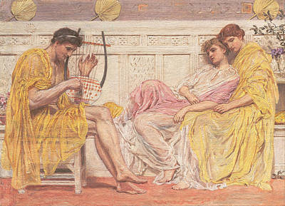 Musician Framed Painting - A Musician by Albert Joseph Moore