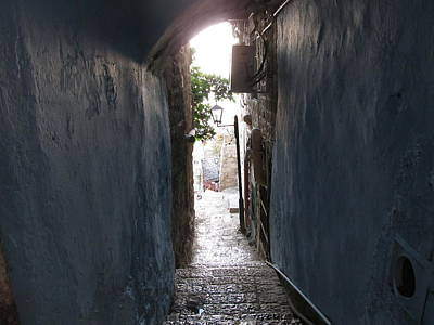 Photograph - A Mysterious Alleyway In Safed by Esther Newman-Cohen