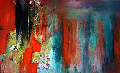 Abstract Painting - A Mystery Disappearance by Lisa Kaiser