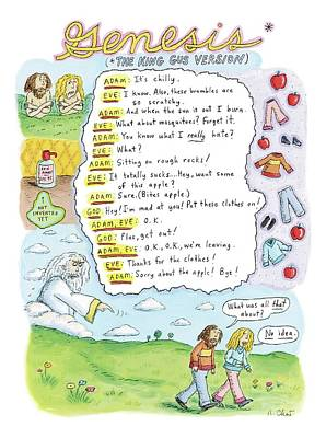 Bible Drawing - A Narrative Is Seen Detailing The Events Leading by Roz Chast
