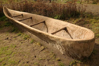 Hand Made Photograph - A Native American Fishing Boat by Jeff Swan