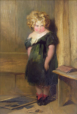 Mischievous Painting - A Naughty Child by Sir Edwin Landseer