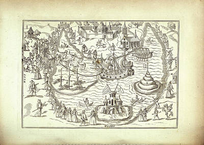 Procession Photograph - A Naval Procession by British Library