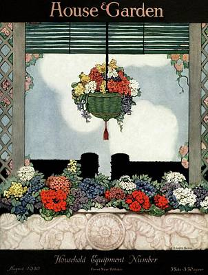 Hanging Baskets Photograph - A Neo-classical Marble Window Sill by Ethel Franklin Betts Baines