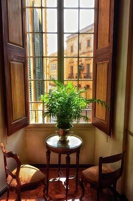 Menorca Photograph - A Neoclassical Style Bedroom by Kike Calvo