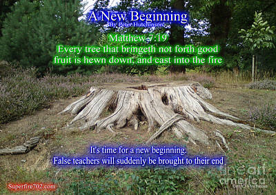 Matthew Good Photograph - A New Beginning by Bible Verse Pictures