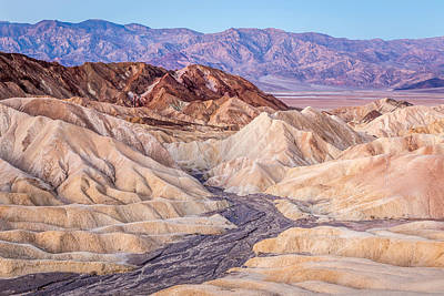 Photograph - A New Dawn In The Mountains Of Zabriskie Point by Pierre Leclerc Photography