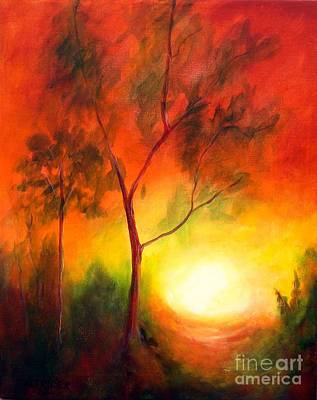 Art Print featuring the painting A New Day by Alison Caltrider