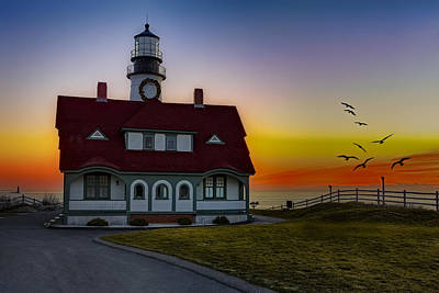 Peaceful Photograph - A New Day At Portland Head Light by Susan Candelario