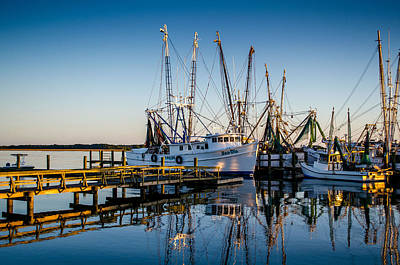 Shrimp Boat Photograph - A New Day Awaits by Richard Kook