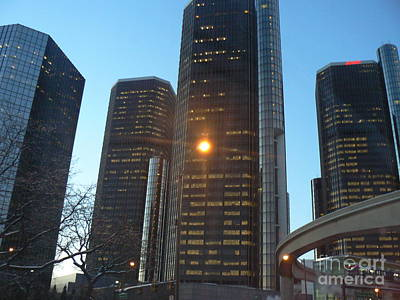 A New Day In Detroit Art Print by Dona  Dugay