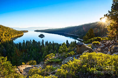 Island Lake Tahoe Photograph - A New Day Over Emerald Bay by Jamie Pham