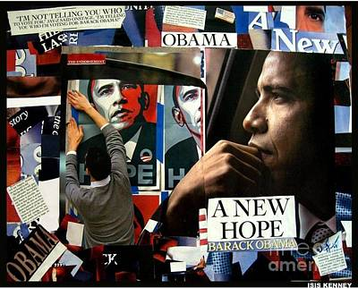 Barack Obama A New Hope Art Print by Isis Kenney