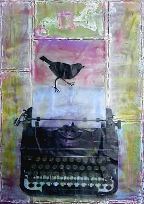 Typewriter Mixed Media - A New Page by Courtney Putnam