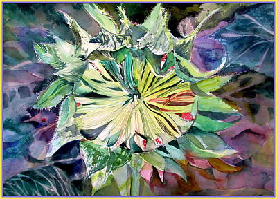A New Sun Flower Art Print by Mindy Newman