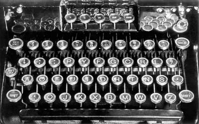 Typewriter Keys Photograph - A New Typewriter Keyboard Layout Devised By Naval Officer, Augus by Underwood Archives