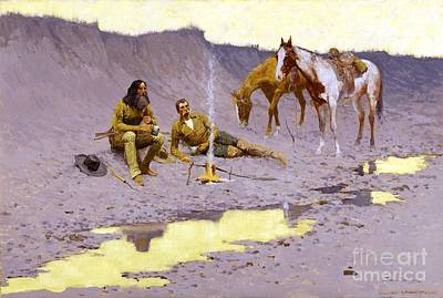 Painting - A New Year On The Cimarron by Pg Reproductions