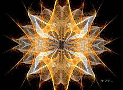 Digital Art - A New Year's Star 2014 by Maria Urso