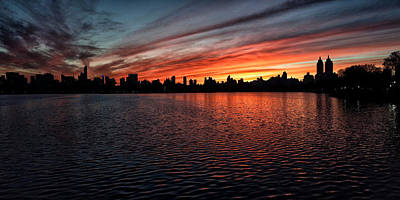Photograph - A New York Sunset by Cornelis Verwaal