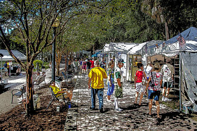 Handcrafted Jewelry Photograph - A Nice Day In The Park Art Show by Rich Franco