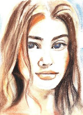 Drawing - A Nice Face by Parag Pendharkar