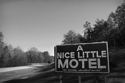 Photograph - A Nice Little Motel Sign by Kelly Hazel