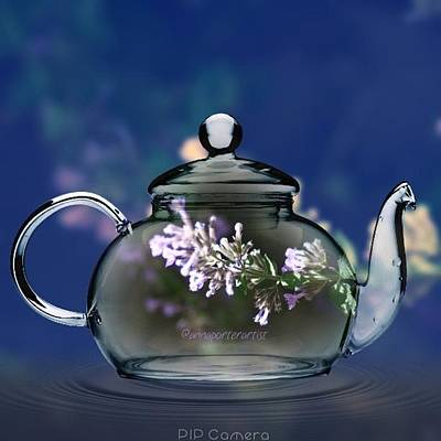 Acrylic Wall Art - Photograph - A Nice Pot Of Tea By @annaporterartist by Anna Porter