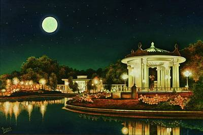 Art Print featuring the painting A Night At The Muny by Michael Frank