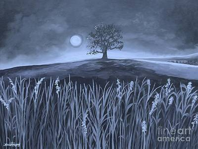 Painting - A Night At The Plains by Nereida Rodriguez